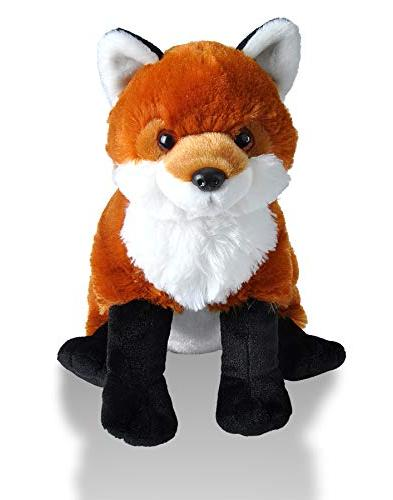 Wild Republic Red Fox Plush, Toy, Cuddlekins Inches