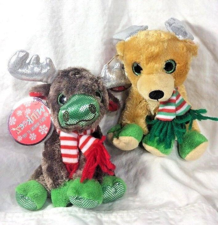 Winkeez Holiday Plush Moose Randall Reindeer Lot of 2 Stuffed