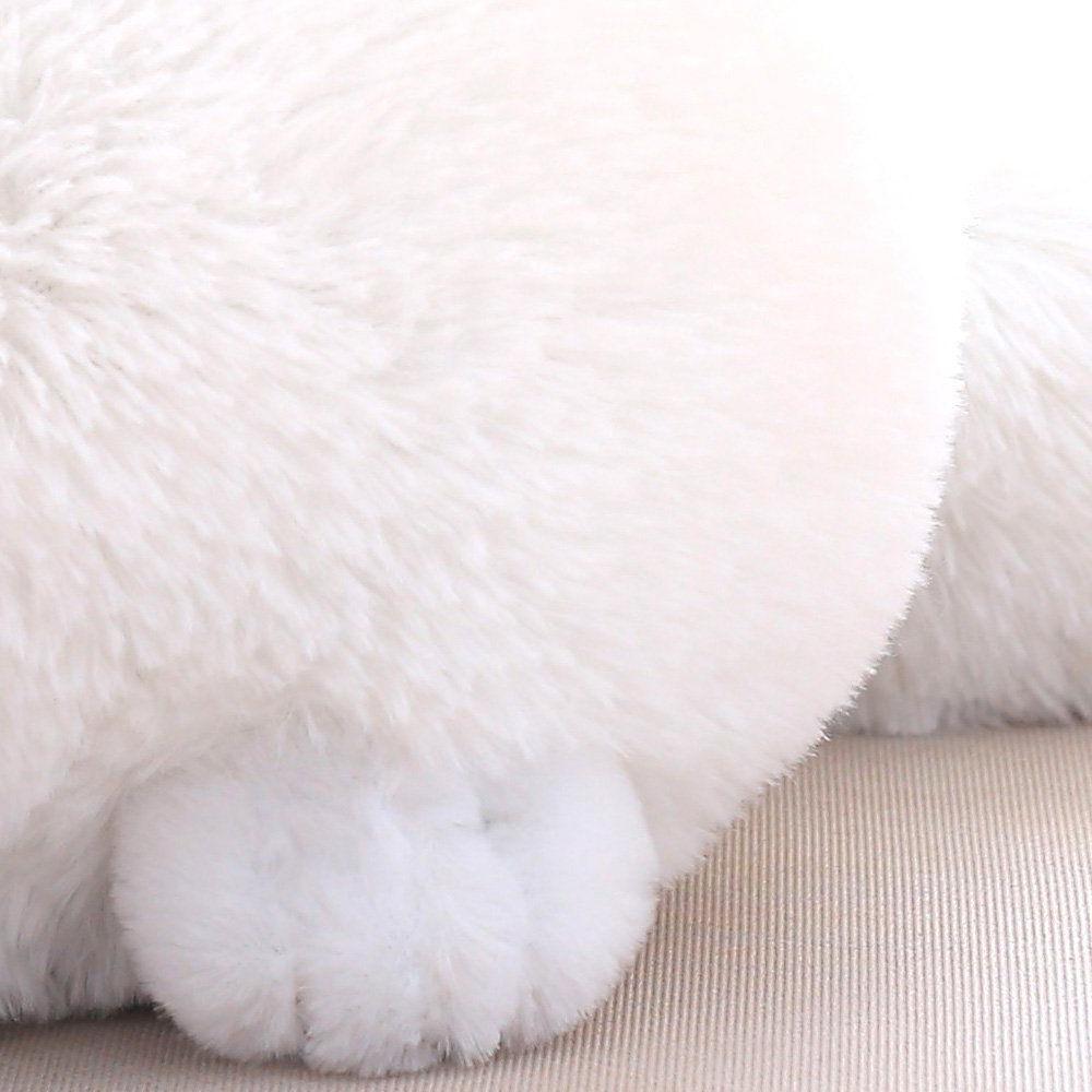 Winsterch Stuffed Plush Animal Animal Doll,White Cat Plush,11.8''
