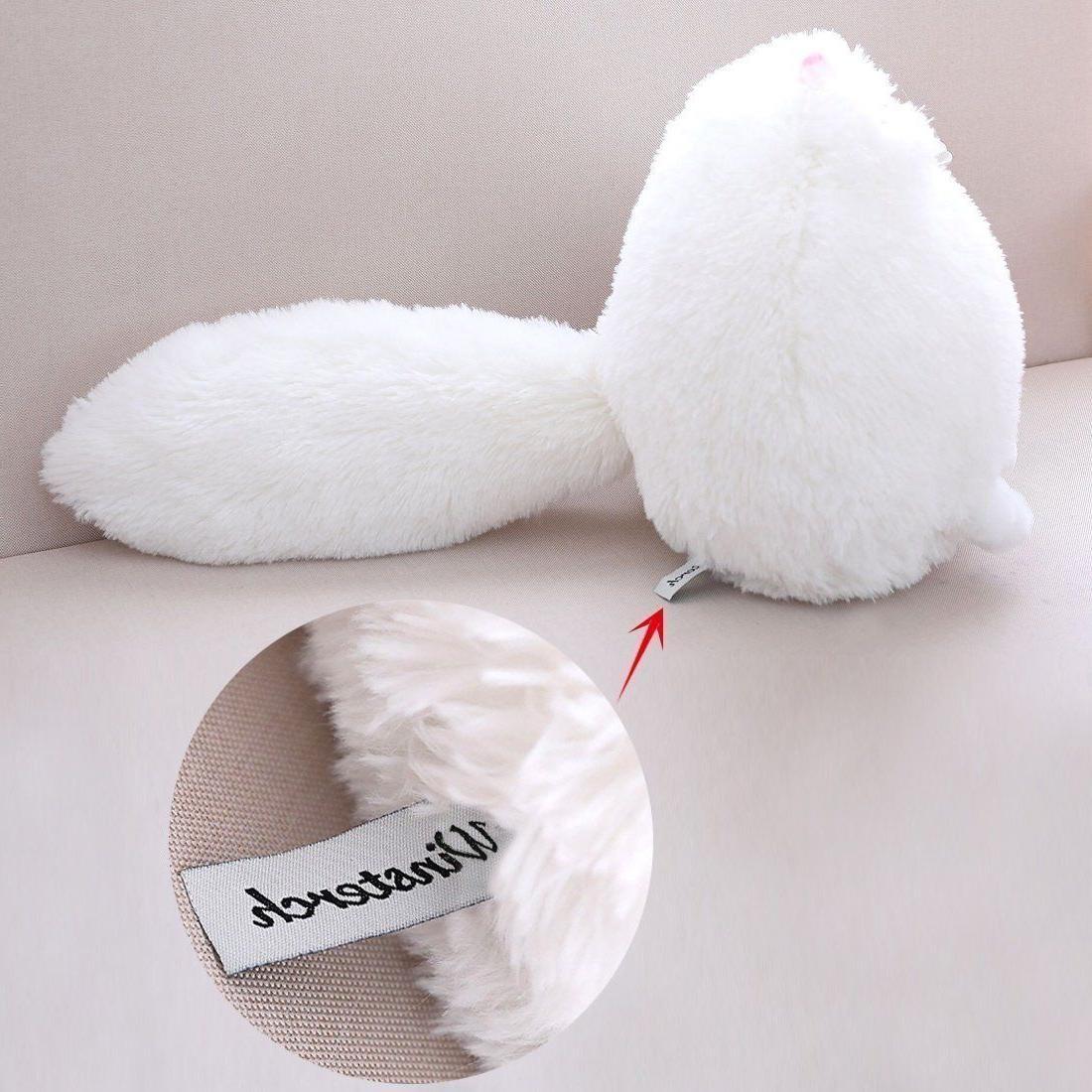 Winsterch Stuffed Cats Plush Animal Doll,White Plush,11.8''