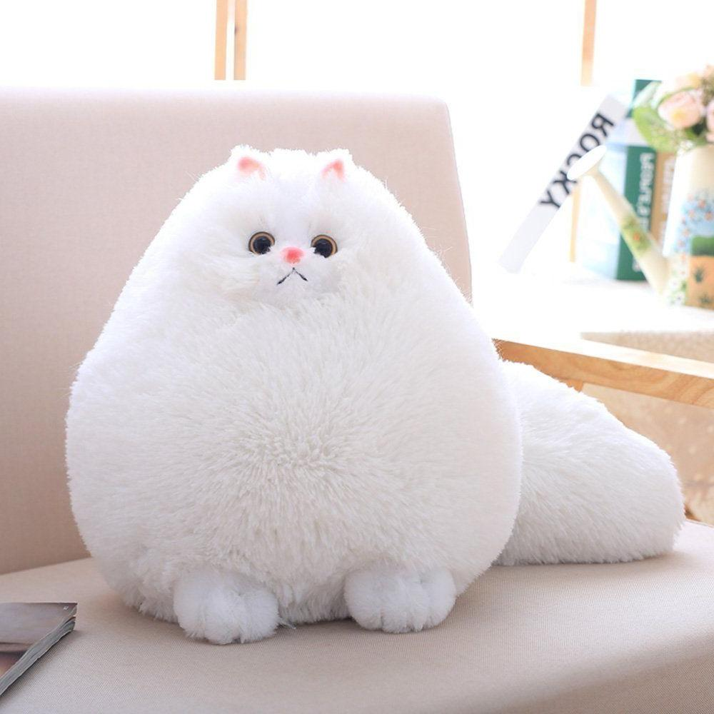 Winsterch Stuffed Cats Plush Animal Toys Animal Baby Doll,Wh