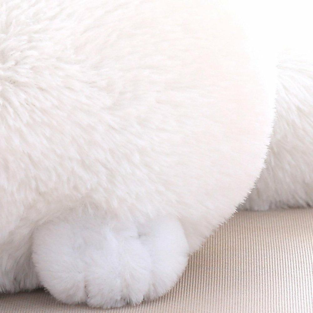 Winsterch Stuffed Plush Animal Animal Doll,White Cat Plush,12''