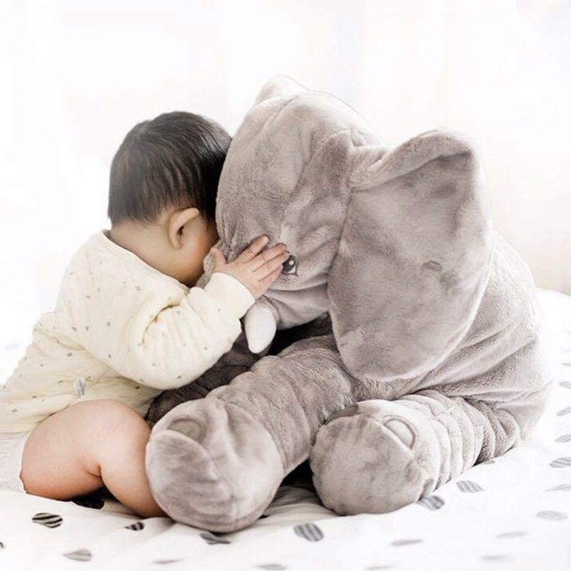 XXL Stuffed Elephant Toy grey