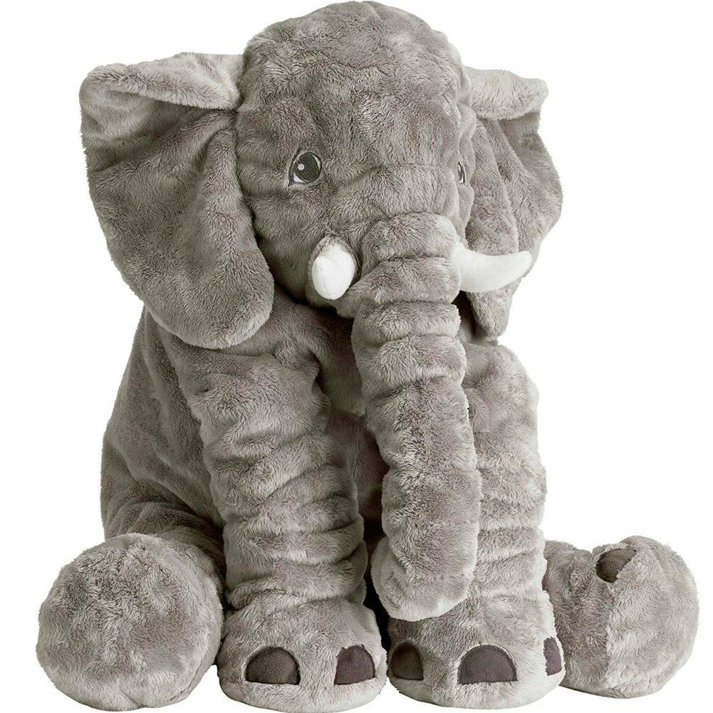 XXL Stuffed Animal Elephant- Toy Plush Pillow grey 24 inch K