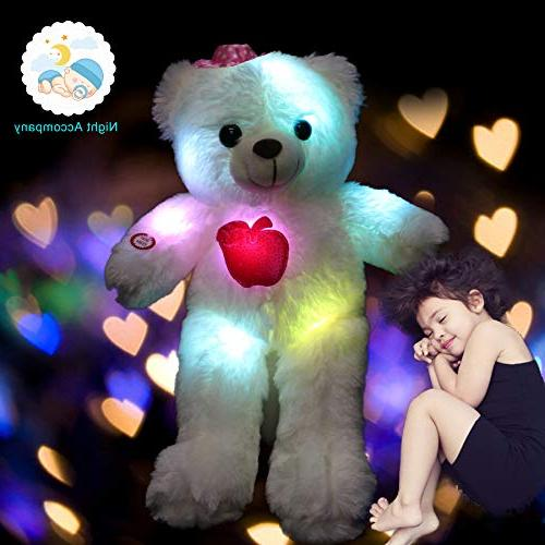 Stuffed Animals up Soft Plush Colorful LED , Stuffed Toy Gifts for 15-Inch