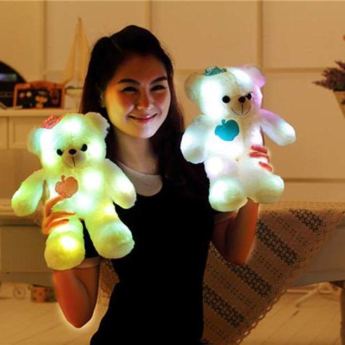 Soft Toys Colorful Flash LED , Stuffed 15-Inch
