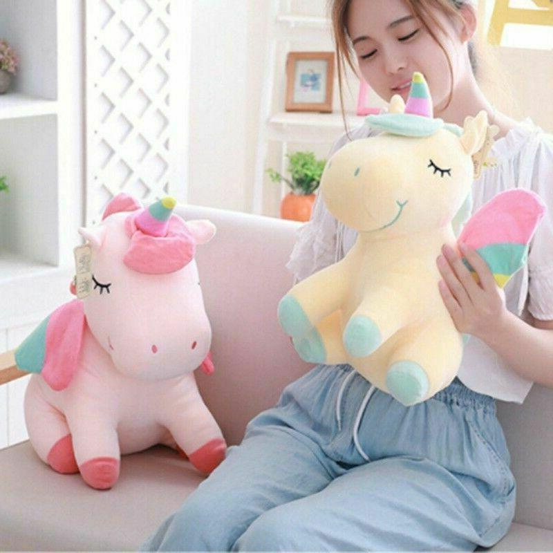 adorable unicorn horse plush fluffy stuffed animal