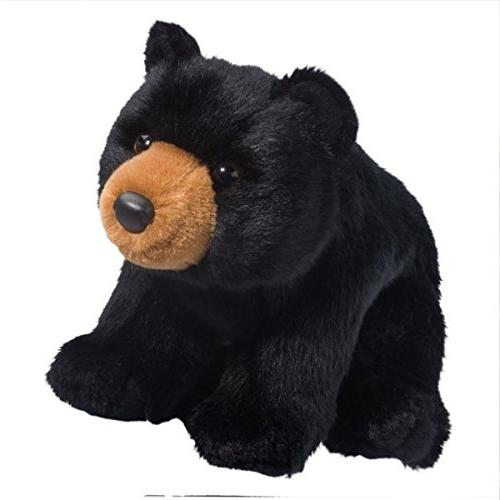 almond black bear plush stuffed