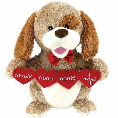 animated puppy love plush dog