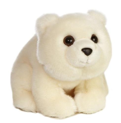 Aurora World 10 '' Plush White ARCTIC POLAR BEAR Small ~NEW~