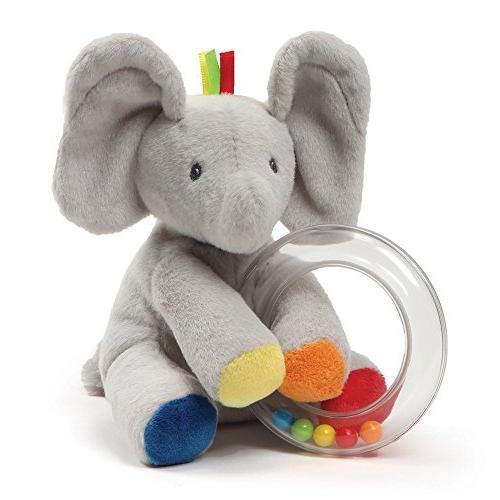 Baby GUND Flappy the Elephant Stuffed Animal Rattle Plush To