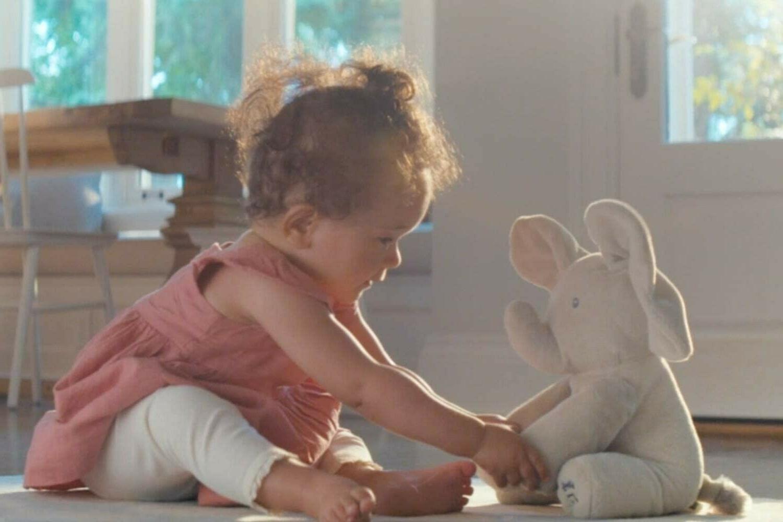 GUND / Baby Animated Flappy Elephant Plush, Gray, 1
