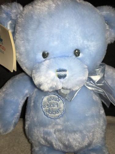 """Gund First Teddy Plush Bear 10"""" Satin Feet 58897 NWT"""