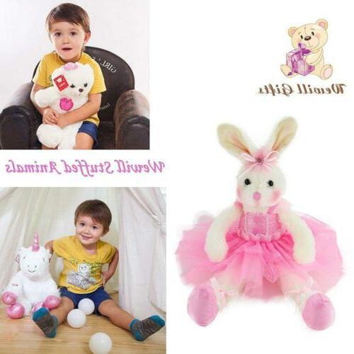 WEWILL Ballerina Bunny Stuffed Animal Plush Toys