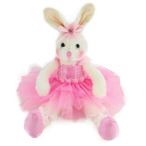 ballerina bunny stuffed animal adorable soft plush