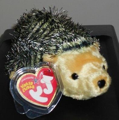 TY Beanie Baby - CHUCKLES the Hedgehog  - MWMTs Stuffed Anim