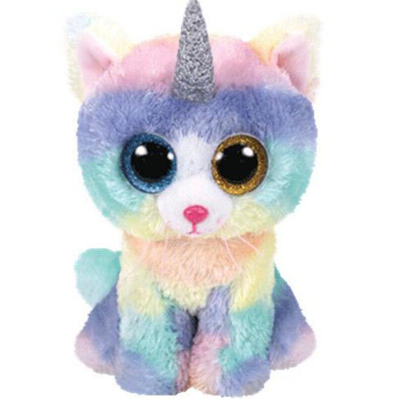beanie 6 15cm heather the cat unicorn
