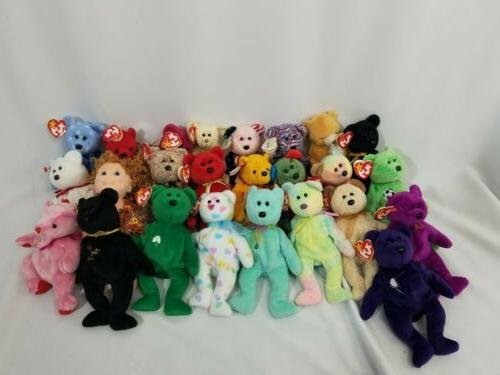 TY Beanie Babies 25 Teddy Bears Collectible Stuffed Lot TAGS