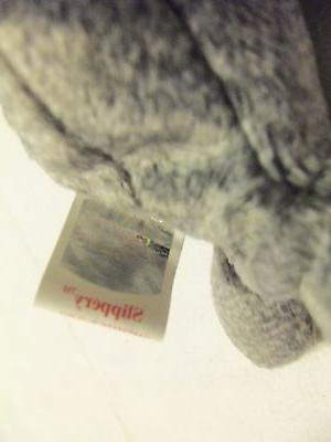 TY Babies Gray Seal SLIPPERY Tag