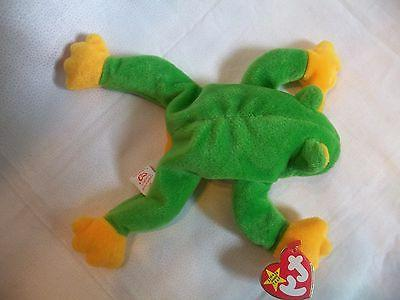 TY Beanie Babies Green Frog ** ** 5th Generation Tag