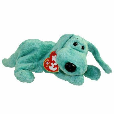beanie babies green puppy dog