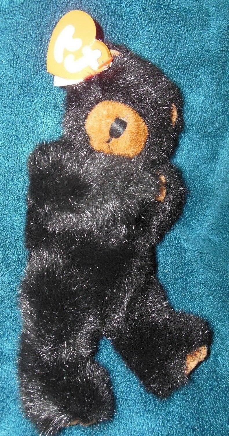TY Beanie Babies Jointed Ivan Black Bear Plush Stuffed Anima