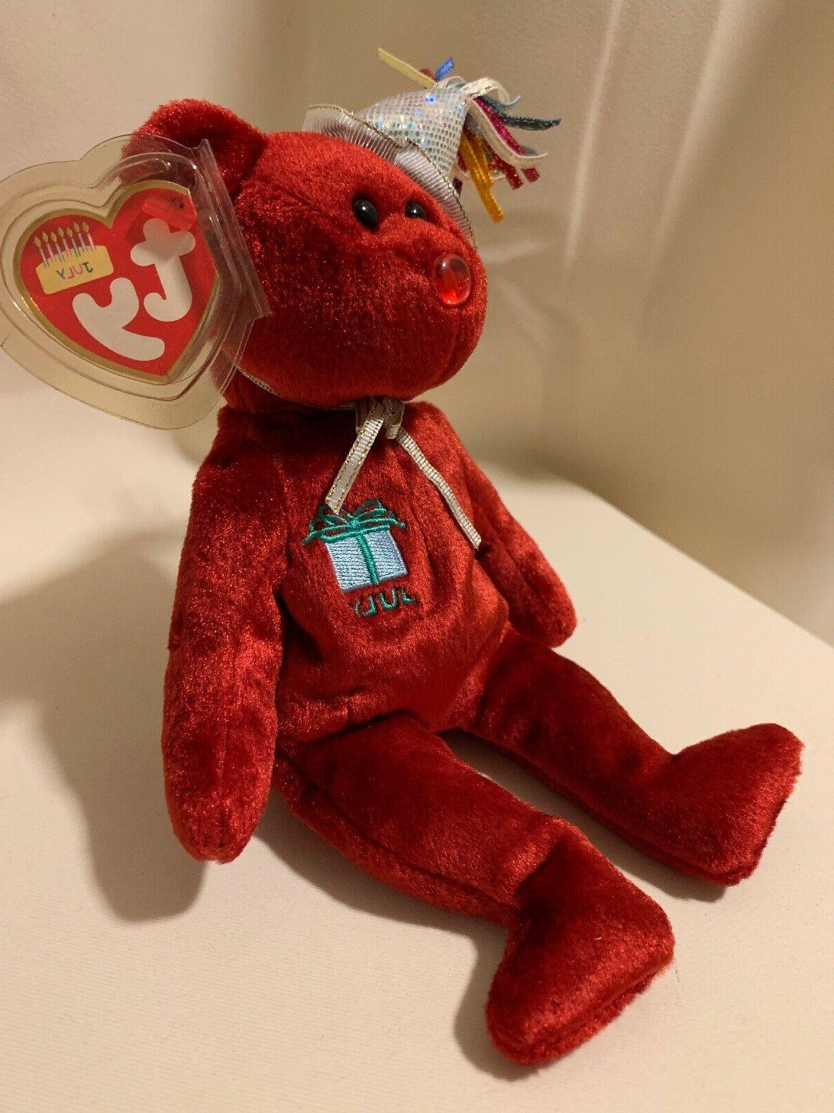 Ty the Red Happy Bear Pristine!
