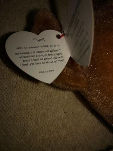 Ty Beanie Walrus Plush Stuffed Animal Baby