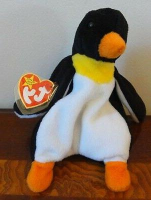 """TY BEANIE BABY WADDLE PENGUIN MWMT 7"""""""
