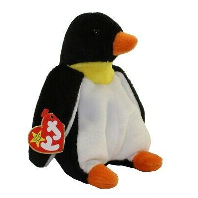 beanie babies waddle penguin mwmt
