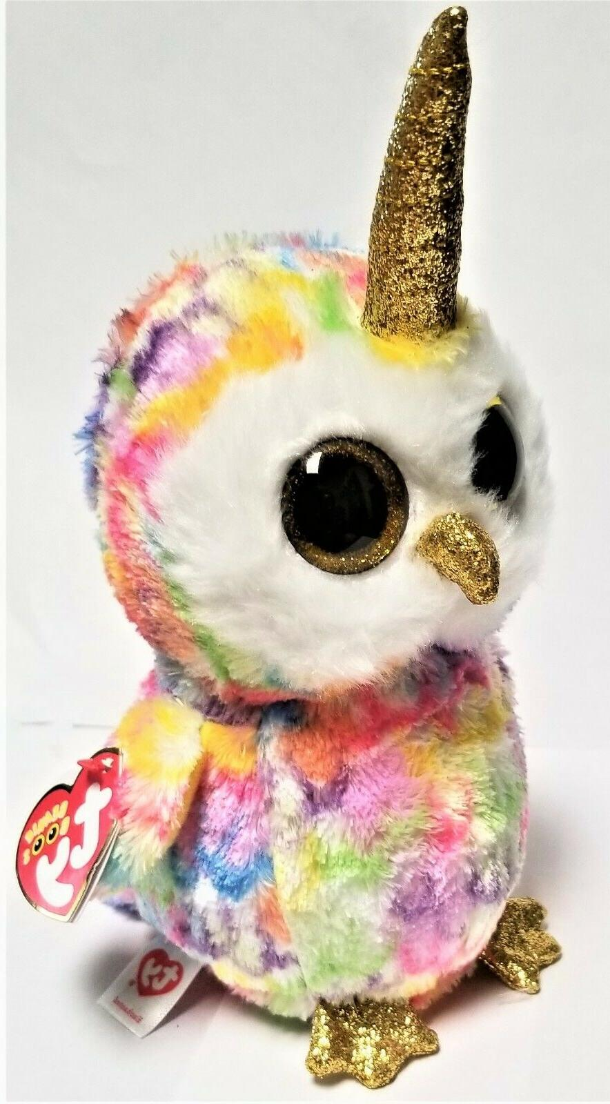 Ty Beanie Boo's - 6'' Enchanted owl with Horned Plush Animals