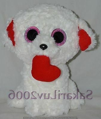 "TY BEANIE BOOS HONEY BUN THE VALENTINE DOG MEDIUM BUDDY.9"".2"