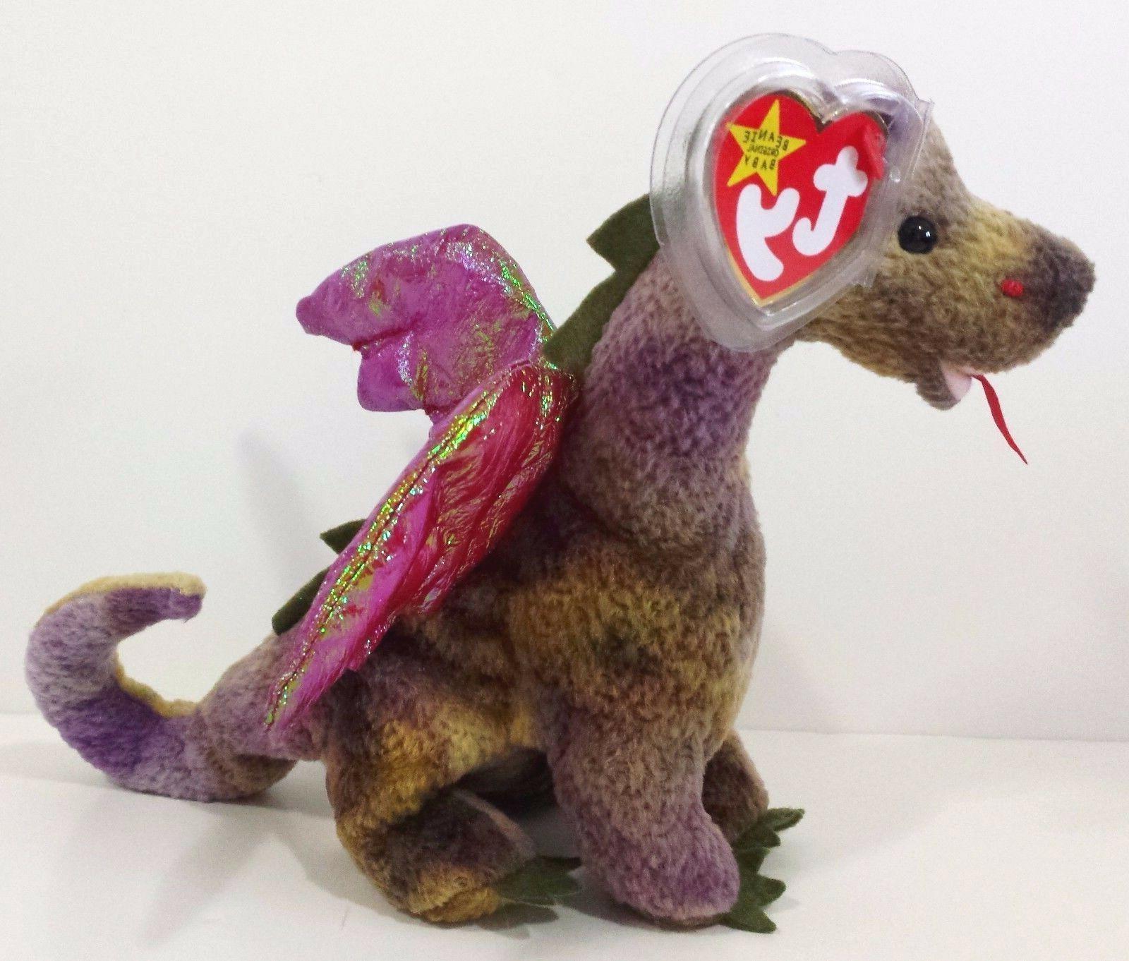 "Ty 6/"" Darla the Pink Dragon Beanie Boos Plush Stuffed Animal New w// Tags MWMT/'s"