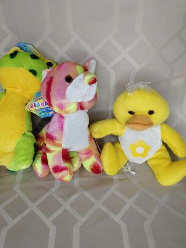 Kellytoy BeanPals Animals Frog Pink Tye Dye