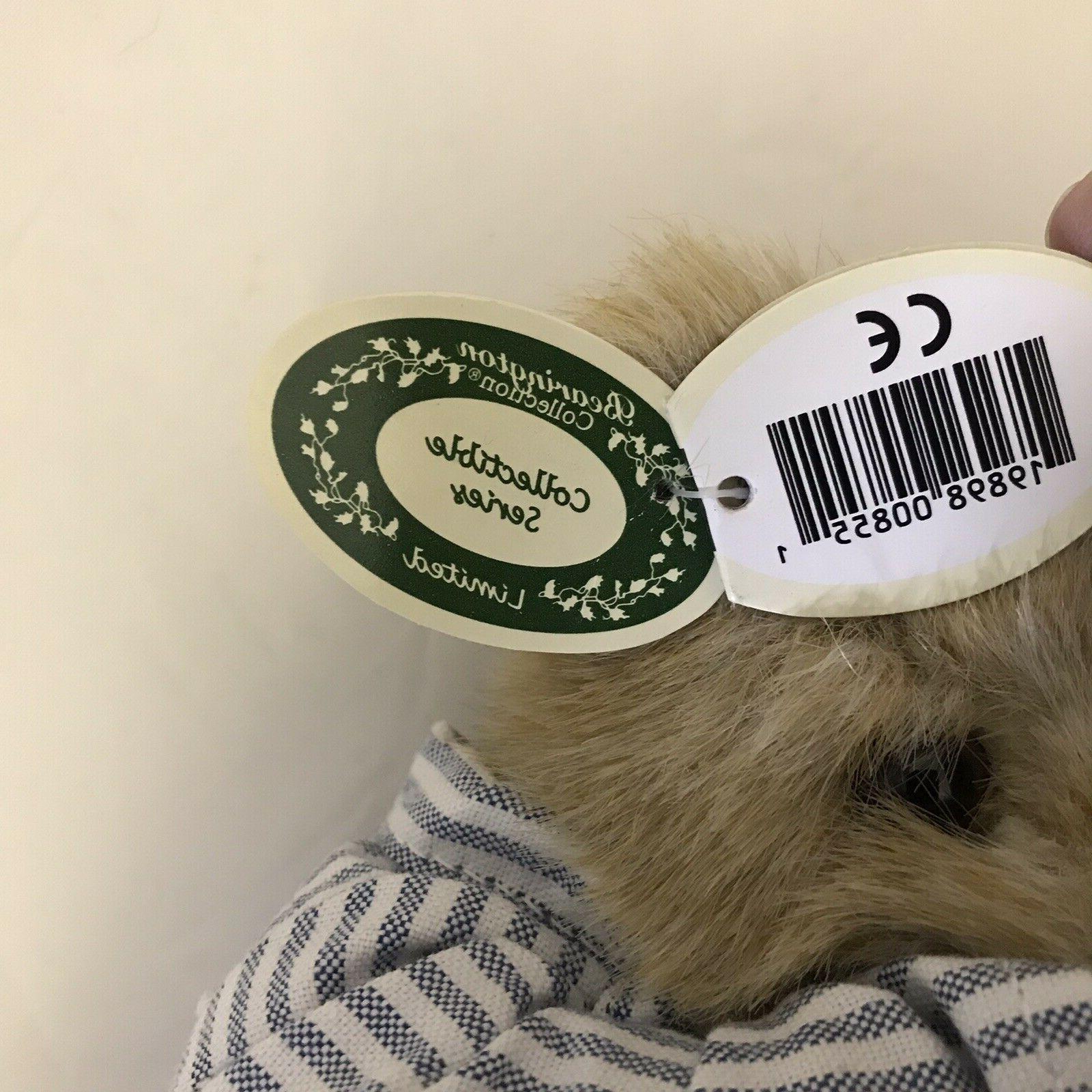Bearington Illie Willie Bear Plush Animal with tags