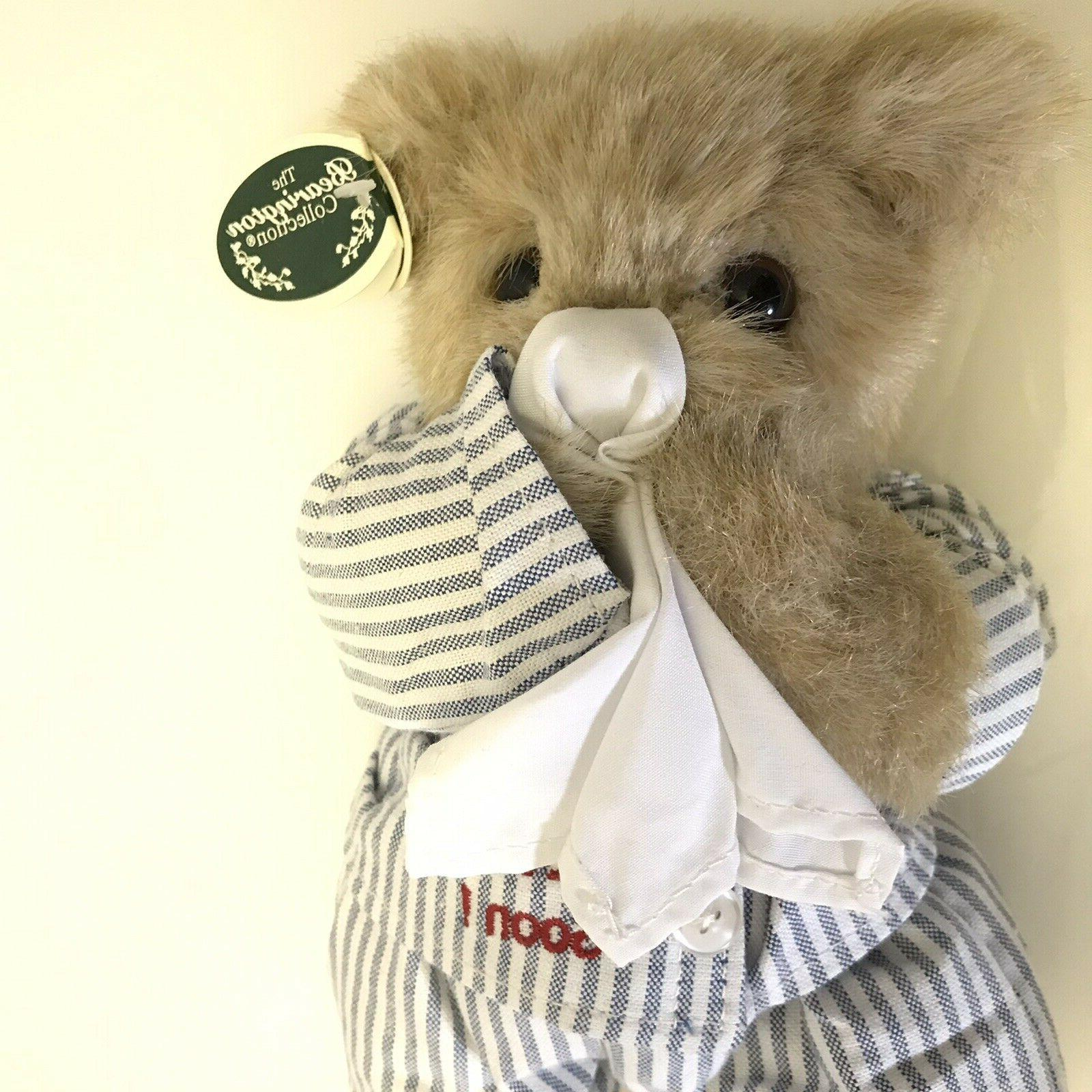Bearington Willie Bear Get Well Plush Stuffed tags