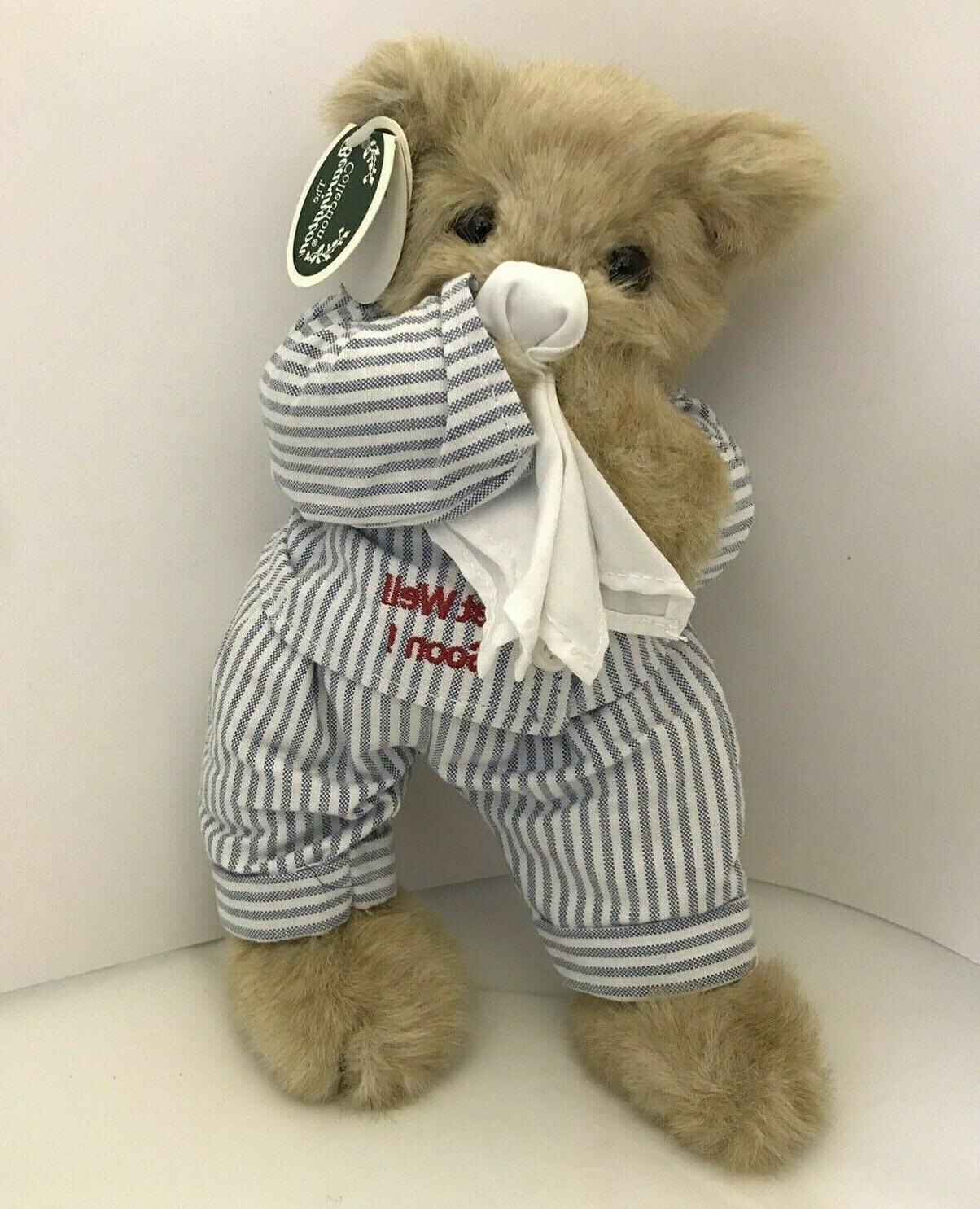 bearington illie willie teddy bear get well