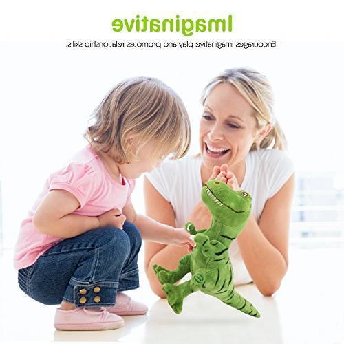 Zooawa Animal Toys, Plush T-Rex Tyrannosaurus Figure - Green