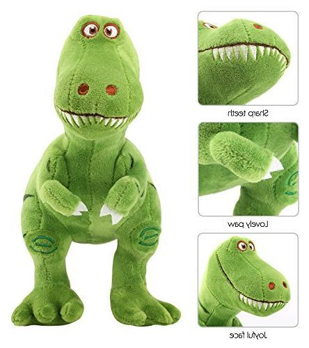 Zooawa Time Animal Toys, Cute Plush Tyrannosaurus Figure - Green