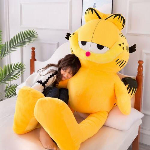 Big Garfield Soft Pillow Stuffed Animals Doll Kids Xmas Gift