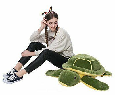 DOLDOA Plush Eyes Sea Stuffed Animal Tortoise Toys