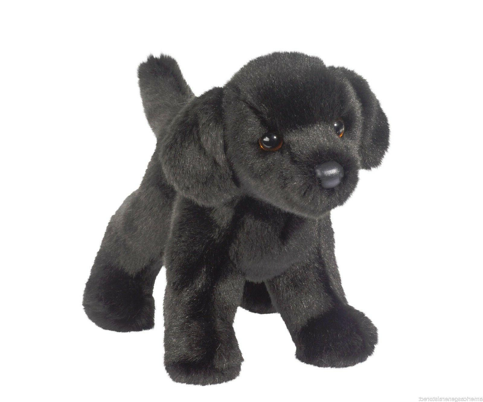 Douglas Black Lab Retriever stuffed animal BEAR dog labrador