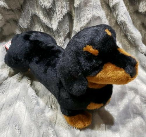 black tan dachshund dog puppy plush stuffed