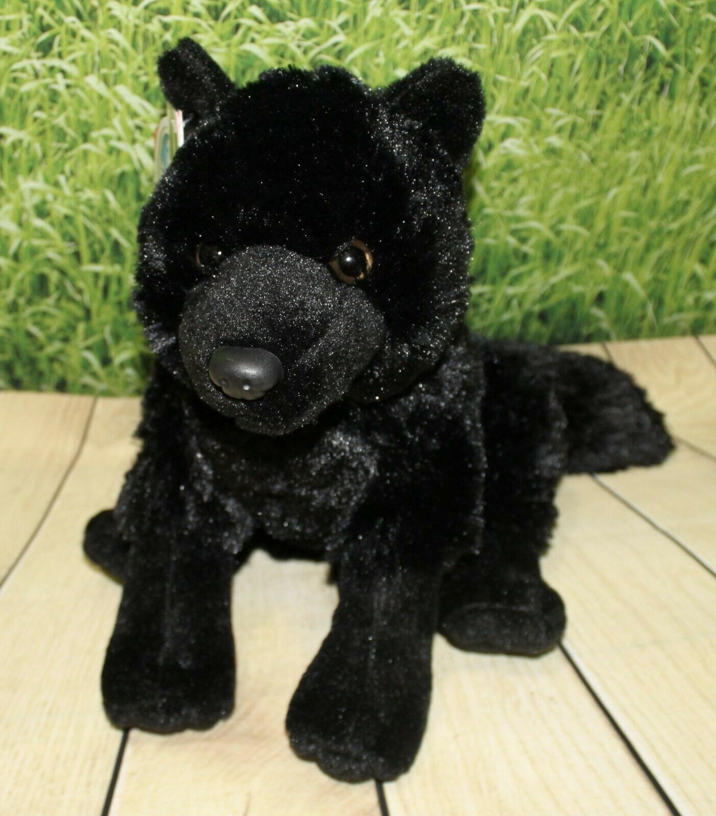"Wild BLACK 12"" Plush Stuffed Animal Toy NEW"