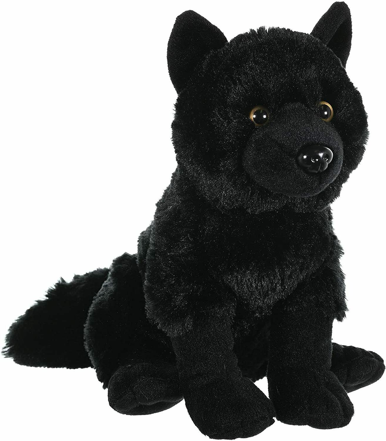 black wolf 12 sitting plush cuddlekins stuffed