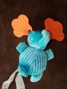 "Ikea Blue Baby Elephant Teether BARNSLIG 6"""