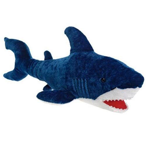 blue shark plush stuffed animal