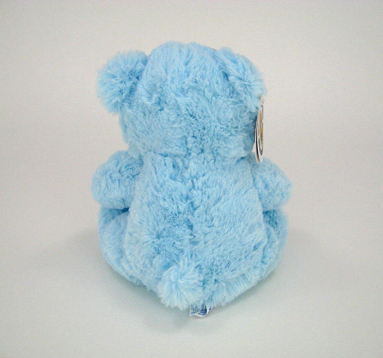 """Blue Teddy Bear Stuffed Animal It's Shower 8"""""""