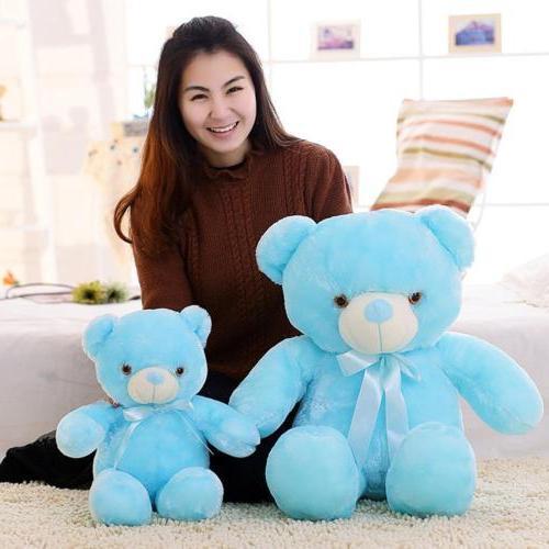Colorful LED Bear Light Up Stuffed Animals Kids Adult Plush