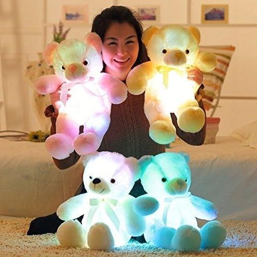 brand creative light up led inductive teddy